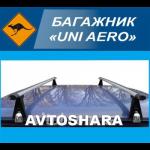 Багажник UNI AERO на водосток, поперечины 130см (UNI AERO 130)