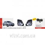 Фары дополнительные модель Toyota Corolla 2010-/TY-422C-W/эл.проводка
