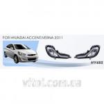 Фары дополнительные модель Hyundai Accent/Verna 2011/HY-485W
