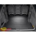 Коврик багажника WeatherTech Toyota Sienna 2003-2010, Черный до второго ряда - резиновые