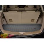 Коврик багажника WeatherTech Acura MDX 2007-2013, Черный до третьего ряда - резиновые