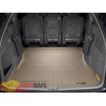 Коврик багажника WeatherTech Toyota Sienna 2003-2010, Бежевый до второго ряда - резиновые