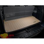 Коврик багажника WeatherTech Toyota Sequoia 2008- Platinum, Бежевый до третьего ряда - резиновые