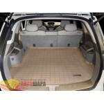 Коврик багажника WeatherTech Acura MDX 2007-2013, Бежевый до второго ряда - резиновые