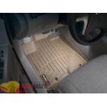 Коврики салона WeatherTech Toyota Highlander 2008- 2011- Hibrid, Бежевые - резиновые