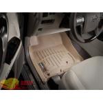 Коврики салона Toyota 4Runner 2011-2012, Бежевые - резиновые WeatherTech
