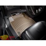 Коврики салона WeatherTech Honda CR-V 2007-2012, Бежевые 1+2 ряд. Передний ряд раздельный - резиновые