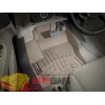 Коврики салона WeatherTech Ford Kuga 2013-, Бежевые - резиновые