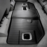 Ковры салона Cadillac Escalade 2007- с бортиком, черные, задние, 3 ряд скамей ESV - Weathertech