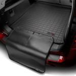 Ковер багажника Lexus LX 570 черный, с накидкой 7мест - Weathertech
