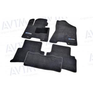 Ковры салона ворс Hyundai Tucson (2015-) /Чёрн, Premium - AVTM