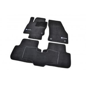 Ковры салона ворс Volkswagen Tiguan (2016-) /Чёрн,Premium - AVTM