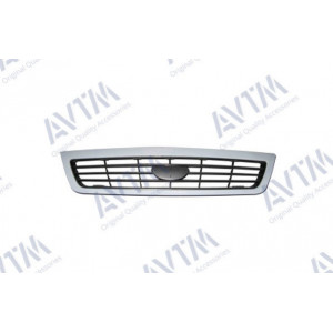 Решетка радиатора Daewoo Nexia 1995-2008 черн.+рамка (тип GM Daewoo) грунтованная - AVTM