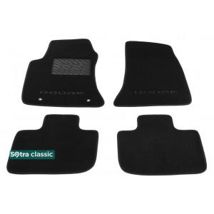 Коврики Dodge Сharger (mkII) 2011-> текстильные Classic - Черные