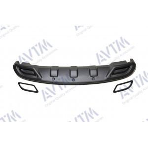 Hyundai Accent (2011-2015) / Диффузор заднего бампера(обманки черные) - AVTM