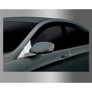 Hyundai Accent 2011- Накладка на Уголок под зеркало - Clover