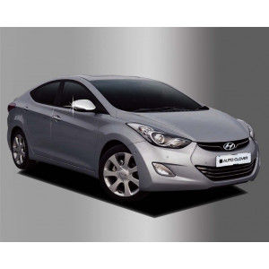 Hyundai Accent 2010- Накладки на зеркала с повторителем 2шт - Clover