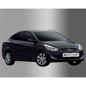 Hyundai Accent 2010- Окантовка фар 2шт - Clover