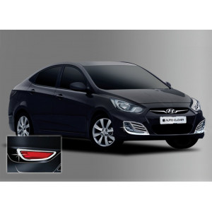 Hyundai Accent 2010- Окантовка противотуманок 4шт - Clover