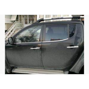 Mitsubishi L200t 2007-2015 Молдинги стекол нижние 4шт - Carmos