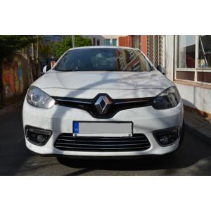 Renault Fluence 2013- Накладки на решетку радиатора (бампер) 4шт - Carmos