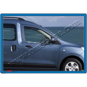 Dacia/Renault Dokker 2012- Молдинги стекол нижние 2шт - Carmos
