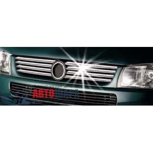 VW T4 Сaravella 1998-2003 Накладка на решетку радиатора 8шт - Carmos