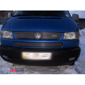 VW T4 Caravella 1998-2003 Накладки на решетку бампера 4шт - Carmos