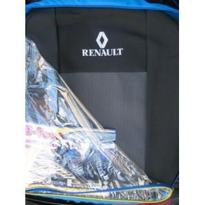 Чехлы на сиденья RENAULT Trafic (1+2) 3 перед. - Ав-Текс