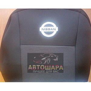 Чехлы сиденья NISSAN Tiida седан с 2004 г. (бежевые) европа економ Элегант - модель Classic