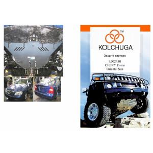Защита Chevrolet Evanda 2000-2006 V-2.0 двигатель, КПП, радиатор - Премиум ZiPoFlex - Kolchuga