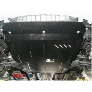 Защита Hyundai Accent RB (Solaris) IV 2011-2015- V- все двигатель, КПП, радиатор - Премиум ZiPoFlex - Kolchuga