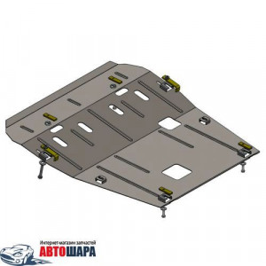 Защита Renault Logan 2012- V- все двигатель, КПП, радиатор - Премиум ZiPoFlex - Kolchuga