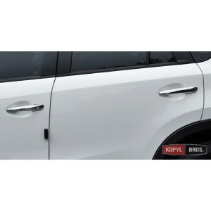 Mazda 3 Axela накладки хром на дверные ручки smart key - 2014