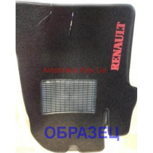 Коврики текстильные RENAULT CLIO с 2010 черные в салон