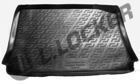 Коврик в багажник Peugeot Partner origin (02-) твердый L.Locker