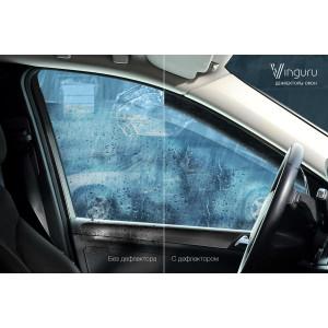Дефлекторы окон Nissan Almera 2012- седан накладные скотч комплект 4 шт. - Novline