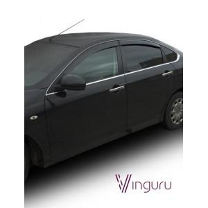 Дефлектори вікон Nissan Almera 2012 - седан накладні скотч комплект 4 шт. - Novline