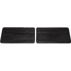 Резиновые коврики VW SHARAN 1995 черные ЗАД. РЯД 2 шт - Petex