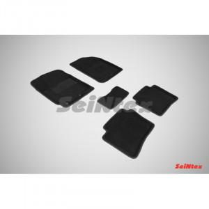 Ковры салона 3D ворс Hyundai Solaris 2011-2016 /Черные 5шт - Seintex