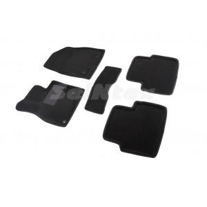 Ковры салона 3D ворс Mazda 3 2013- /Черные 5шт - Seintex