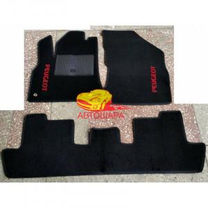 Коврики текстильные PEUGEOT 5008 черные в салон