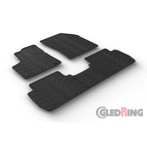 Резиновые коврики Gledring для Peugeot 5008 (mkII) 2017>