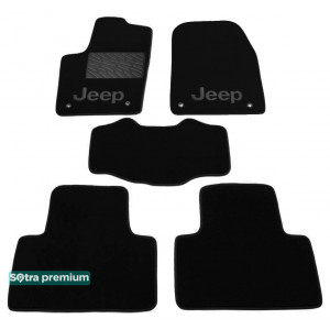 Двухслойные коврики для Jeep Grand Cherokee (WK2)(mkIV) 2014→ Sotra Premium 10mm Black