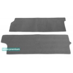Двухслойные коврики Sotra Premium 10mm Grey для Volkswagen Multivan (2-3 ряд)(T5)2003-2016