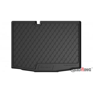 Резиновый коврик в багажник для Skoda Fabia (hatch)(mkIII) 2015→ (lower)(trunk) Gledring
