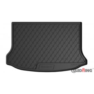 Резиновый коврик в багажник для Volvo V40 (mkII)(D2,D3,D4) 2012-2018; (T2,T3,T4) 2012→ (lower)(trunk) Gledring