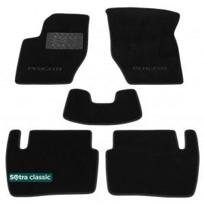 Двухслойные коврики Peugeot 307 (хэтчбек) 2001-2008 - Classic 7mm Black Sotra