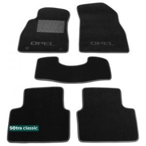 Двухслойные коврики Opel Insigna (mkI) 2008-2012 - Classic 7mm Black Sotra