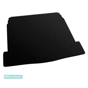 Коврик в багажник Citroen C5 (лифтбэк)(mkI) 2001-2007 - текстиль Classic 7mm Black Sotra